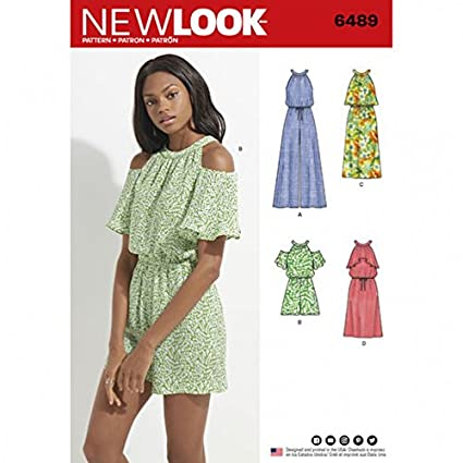 b6643cb5059 Amazon.com  New Look Ladies Sewing Pattern 6489 Jumpsuit