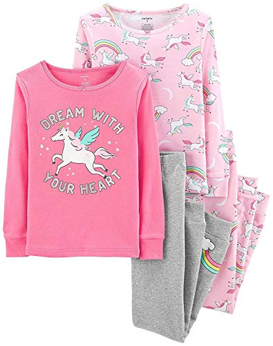 Carter's Baby Girls' 4 Pc Cotton Pj (24 Months) - Carters Baby Pajamas