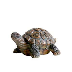 donau Garden Statue Lawn Ornaments - Cute Turtles Figurines Polyresin Animal Sculpture Indoor Outdoor Art Decor, Turtle Garden Statue Patio Yard Decorations 5.1 inch