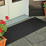 Weather Guard Ellipse 22-Inch x 60-Inch Door Mat | Easy to clean, making it the perfect solution to high-traffic areas (CHARCOAL)