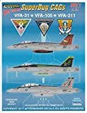 AFD32003 1:32 Afterburner Decals F-18E F-18F Super Hornet East Coast CAGs VFA-31 VFA-105 VFA-211 [WATERSLIDE DECAL SHEET]