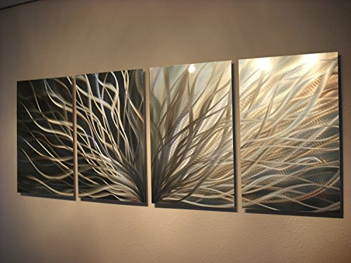 Miles Shay Metal Wall Art, Modern Home Decor, Abstract Sculpture Contemporary- Radiance Silver and Gold by Miles Shay (Image #1)