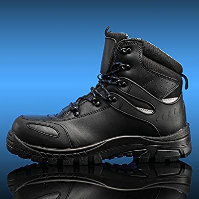 Men's Work Boots Composite/Steel Toe Waterproof Leather Anti-slip Antistatic Construction Shoes: Shoes
