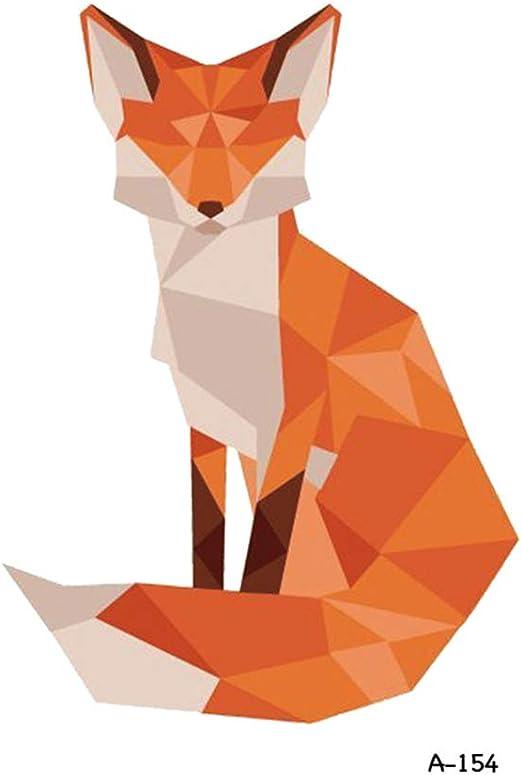 tzxdbh 7Pcs- Fox Cat Tatuajes temporales en el Cuerpo para Mujer ...