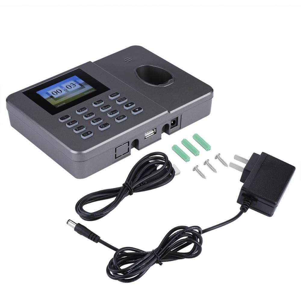 ASHATA Biometric Fingerprint Attendance Machine,C27 Office Fingerprint Attendance Machine 110-240V Biometric Fingerprint Time Attendance with 1.8-inch TFT Screen [Black]