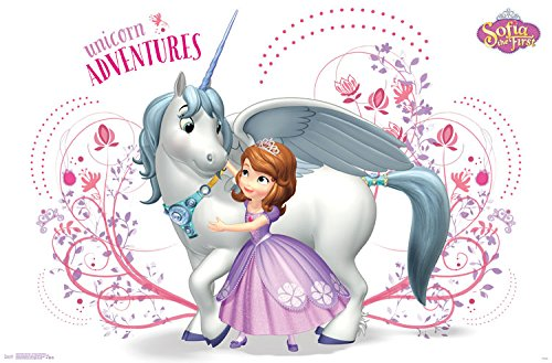 Trends International Sofia The First Unicorn Adventures Wall Poster 22.375