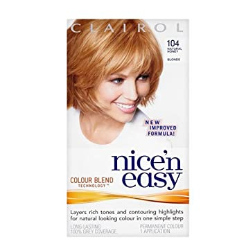 clairol nicen easy permanent hair colour 104 natural honey blonde - Clairol Nice And Easy Hair Color