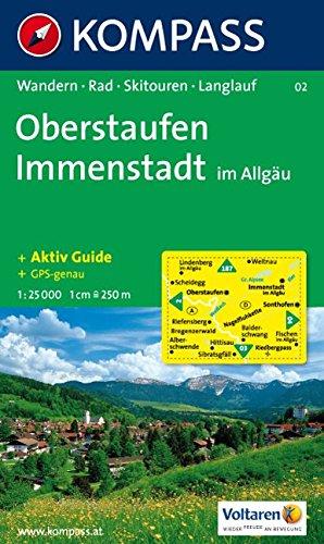 Oberstaufen, Immenstadt im Allgäu: Wander-, Radtouren-, Skitouren- und Langlaufkarte. GPS-genau. 1:25.000