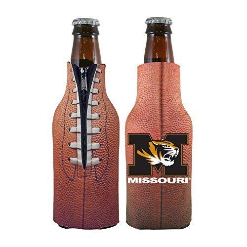 NCAA College 2014 Team Logo Football Look Bottle Coolie Holder Koozie Cooler 2-Pack (Missouri Tigers)