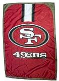 """NFL San Francisco 49ers Fan Cape Flag Banner (Measures 31.5"""" x 47"""")"""