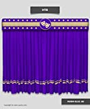 Saaria HT8 navy blue stage Velvet Curtain Panel deluxe Parties Backdrop Background 15 ft Wx8 ft H