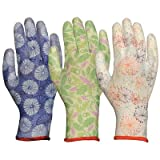 Women's Assorted Breathable Polyurethane Palm Gloves [Set of 12] Size: Medium