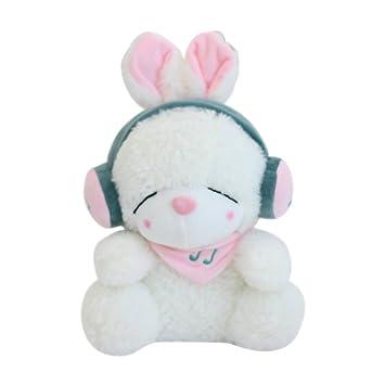 Amazon.com: 3d ins Adorable auriculares – peluche de conejo ...