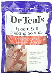 Dr. Teal\'s Epsom Salt Soaking Solution, Rosemary and Mint, 48 Ounce