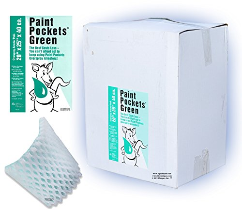 20 x 25 - Paint Pockets GREEN Overspray Arrestor by Paint Pockets