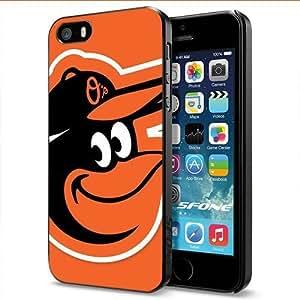 Baltimore Orioles Birds Logo Apple Smartphone iPhone 5 5S Case Cover Collector Black Hard Cases