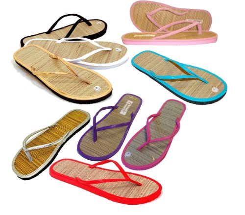 3 pairs - Assorted Bamboo Sandals - Bamboo Flip Flop Sandals