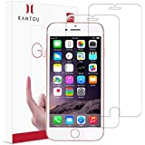 Kantou Screen Protector Compatible for iPhone 7 / iPhone 8, 2 Pack HD Clear Tempered Glass Screen Protector, 9H Hardness, Ultra-Thin, 3D Touch, Anti-Fingerprints, Compatible for iPhone 7 / iPhone 8