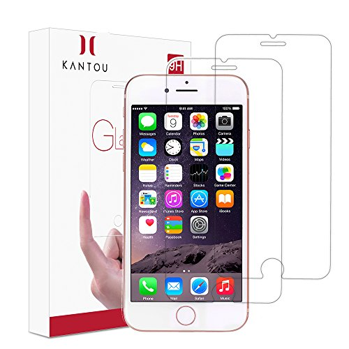 iPhone 7/iPhone 8 Screen Protector, 2 Pack Kantou HD Clear Tempered Glass Screen Protector, 9H Hardness, Ultra-Thin, 3D Touch, Anti-Fingerprints, Shatterproof for iPhone 7/iPhone 8 ()
