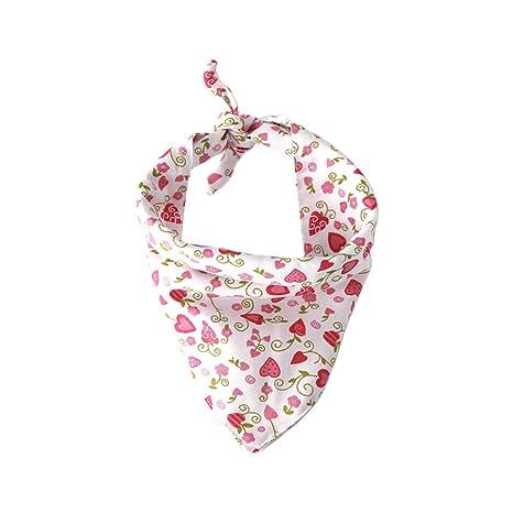 BESTOYARD Pañuelo para el Perro Baberos para Mascotas Bufanda del corazón Accesorios para Mascotas Gatos (