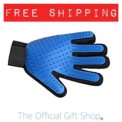 TOGS Premium Dog Grooming Glove for Shedding Pets | Massaging Fur Glove | Perfect Pet Hair Removal Mitt | Right Hand