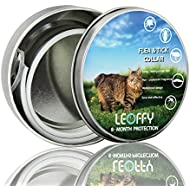 LEOFFY Flea Tick Collar For Cat - One Size Fits All - Flea Prevention Up To 8 Months - Natural Ingredient Flea and Tick Collar