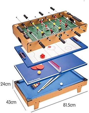 JJSFJH Juego de Mesa, Multi Combo 4 en 1 Juego de Mesa, Mesa de futbolín en Miniatura del Juego de fútbol Sala de Juegos de Interior Juego de Mesa: Amazon.es: Deportes y