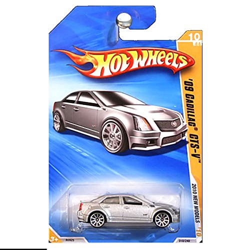 Hot Wheels 2010 New Models 2009 Cadillac CTS-V CTSV CTS Silver (2009 Cars Cadillac)