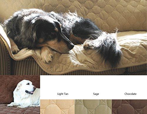 HuggleHounds Soft, Durable Furniture Protector-2 Cushion, Chocolate