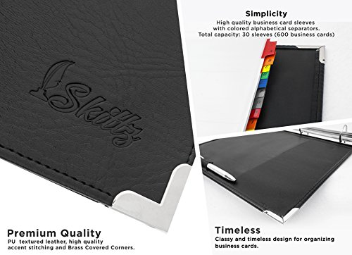 Amazon skittz business card book leather organizer binder w amazon skittz business card book leather organizer binder w sleeves 600 storage capacity office products colourmoves