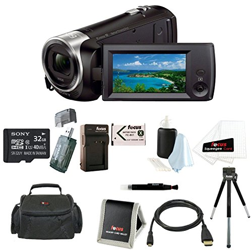 Sony HDR-CX405/B Handycam HD Camcorder w/ 32GB Deluxe Accessory