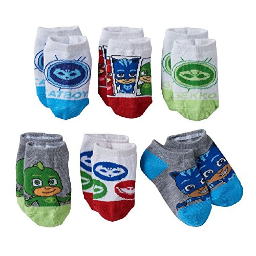 PJ Masks Toddler Boys Low-Cut Socks 6-Pack Gekko, Catboy & Owlette