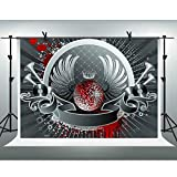FHZON 10x7ft Music Stage Backdrop Photography CD Sound Crown Background Theme Party Photo Booth Shooting Props PFH654