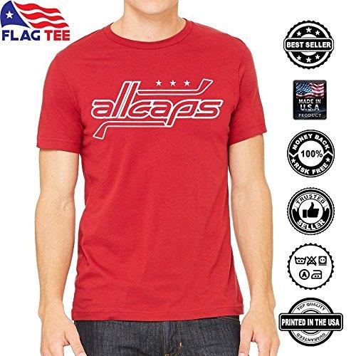 ALLCAPS Washington Hockey Fan Playoffs Handmade USA Canvas T-shirt - Playoff Tee