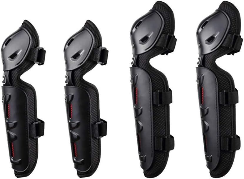 D DOLITY Garde Coudi/ère Genouill/ère Protection /Équipement pour Motard Noir