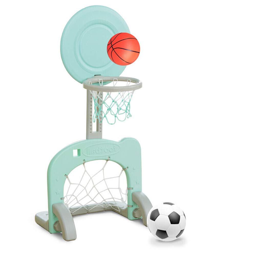 ahorra hasta un 30-50% de descuento Guoyajf 2 En 1 Basketball Hoop Stand Stand Stand Toy Set para Niños Interior Y Exterior Altura Ajustable De hasta 90 Cm, con Soccer Goal, Fácil De Instalar,Green  precios bajos