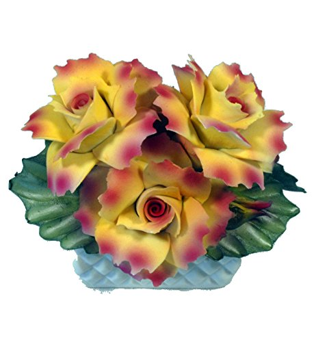 Capodimonte Roses in Basket
