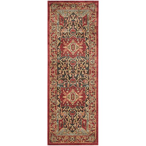 Safavieh Mahal Collection MAH625D Red and Red Runner, 2'2