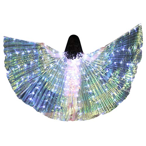 Togethor Belly Dance Wings Children LED Butterfly Professional Angle Costumes Glowing Performance Clothing with Stick