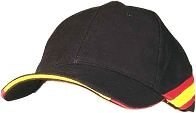 pc Gorra Negra Bandera de España Regulable Padel Golf: Amazon.es ...