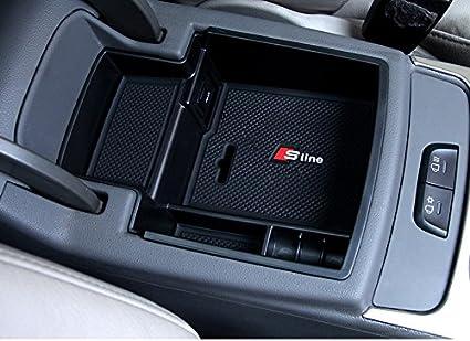 REAMTOP Car Glove Box Armrest Storage Box Organizer Center Console Tray For Audi Q5 2008-2016