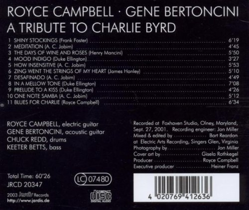 A Tribute to Charlie Byrd by Jardis