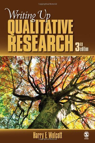 Writing Up Qualitative Research 3rd (third) Edition by Wolcott, Harry F. published by SAGE Publications, Inc (2008)