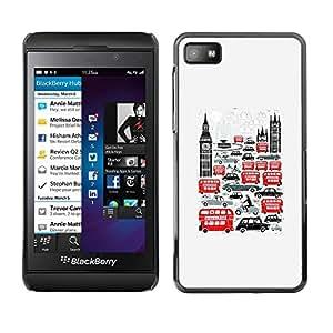 Be Good Phone Accessory // Dura Cáscara cubierta Protectora Caso Carcasa Funda de Protección para Blackberry Z10 // Symbols Double Decker Big Ben