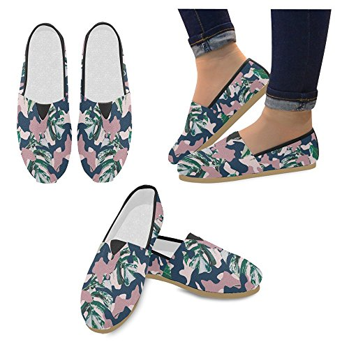 Interestprint Womens Loafers Klassiska Avslappnade Kanfassnedsteget På Mode Skor Gymnastik Mary Jane Platt Camo