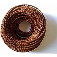 Cable trenzado vintage 5 metros, 2 núcleos, color
