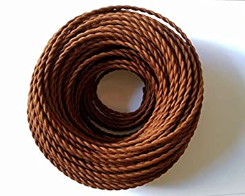 10m 3 Core Vintage Braided Cable,HUIBONA Cloth Covered Twisted Flex for Old Anti