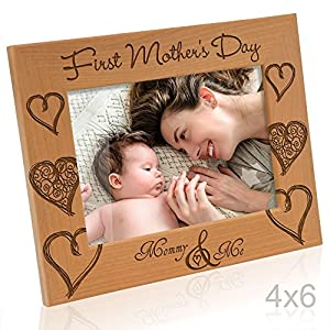kate posh first mothers day with mommy me picture frame 4x6 horizontal - Mother Picture Frame