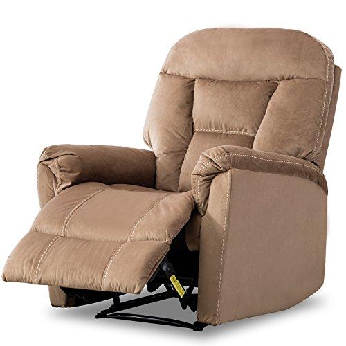 BONZY Manual Recliner Chair Modern Living Room Furniture Durable Fram - Mocha