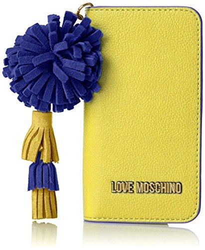 Love Moschino Portacel.small Grain Pu Giallo, Women